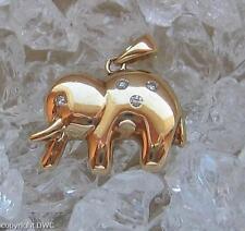 Anhänger für Kette in aus 750er Gold Elefant Brillanten Brillant Pendant