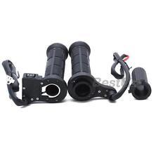 Coppia Manopole Manubri Riscaldate in Plastica PVC Nero 12V per Moto Scooter