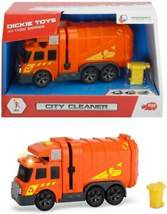 Dickie Toys City Cleaner Garbage Truck With Light & Sound ... New & Unopened