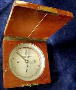 Antique Compass by Keuffel & Esser in Fancy Wood Box w Brass Fittings