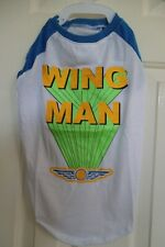 "NWT TOP PAW DOG WHITE DRESS ""WING MAN"" SIZE LARGE FREE SHIPPING"