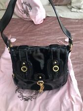 Juicy Couture Handbag In Black Patent Leather