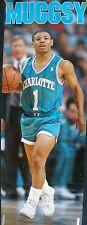 RARE MUGGSY BOGUES HORNETS 1989 VINTAGE ORIGINAL DOOR SIZE NBA COSTACOS POSTER