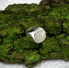 Mondstein Ring Sterlingsilber/925 Cabochon Quadratisch Weiss Grösse 56(17,8 mm )