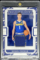 Michael Porter Jr 2018-19 Panini Cornerstones Building Blocks Rookie RC SP