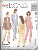 McCall's 8573 Maternity Unlined Jacket, Top and Pull-On Pants  Sewing Pattern