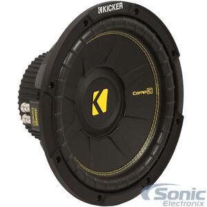 KICKER 44CWCD124 600W 12 Inch Comp C Series Dual 4-Ohm Car Subwoofer Sub Woofer