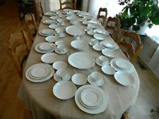 Mikasa Citation Bone China Dinnerware Set for (12) w/7 Serving Pieces 3-2