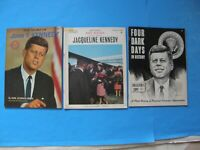 LOT OF 3 JOHN F. KENNEDY 1963-1964 AND JACQUELINE ILLUSTRATED MAGAZINES