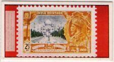 Taj Mahal Agra Shrine on 1935 India Postage Stamp Vintage Trade Card