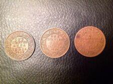 Inde Un quart ANNA 1905 EDWARD VII fine,1918 George V AUNC, 1935, George V EF
