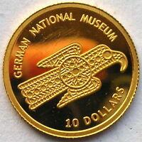 Nauru 2005 National Museum 10 Dollars Gold Coin,Proof