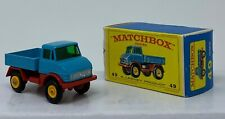 Matchbox #49 Mercedes Unimog in Original Box with black wheels by Lesney
