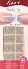 Kiss Nail Stick on NAIL DRESS Applique Strips French or Full 32 Strips 58412