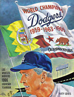 1966 Los Angeles Dodgers baseball Yearbook, magazine, Walter Alston VG