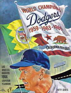 1966 Los Angeles Dodgers baseball Yearbook, magazine, Walter Alston VG