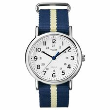Timex T2P142, Men's Weekender Blue Fabric Watch, Indiglo, T2P1429J