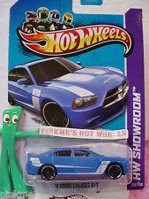 CASE Q 2013 Hot Wheels '11 DODGE CHARGER R/T #228 ∞Kmart Exclusive Process Blue
