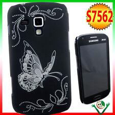 Custodia back cover BUTTERFLY NERA pr Samsung Galaxy S Duos 2 S7582 rigida