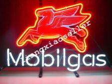 Mobil Pegasus Gas Mobilgas Flying Horse Gasoline Motor Auto Car Real Neon Sign