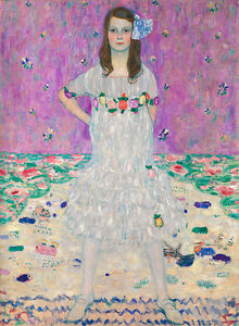 Mada Primavesi by Gustav Klimt 60cm x 44cm Canvas Print