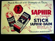 Ancien Buvard Saphir Le Stick Saphir Daim Nancy