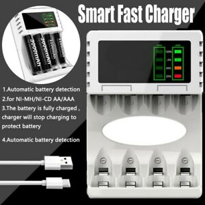 Intelligent Battery Charger 4 Slot For AA AAA NI-CD NI-MH Rechargeable Batteries