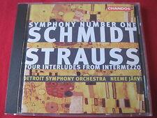 SCHMIDT: SYMPHONY NO 1 / STRAUSS: FOUR INTERLUDES - JARVI - CHANDOS (CD 1995 UK)
