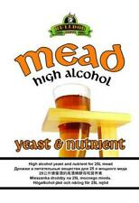 Bulldog Mead and High Alcohol wine yeast. Complete with nutirent.