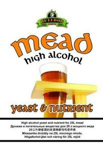 Bulldog Mead and High Alcohol wine yeast. Complete with nutirent. for 23 litres.
