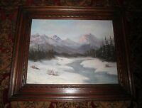 California Plein Air Impressionism High Sierra Mountain Landscape Oil Painting