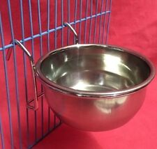 Cat Dog Birds Rabbit Cage Clip On Water Food Bowl Countainer 2 Hook Coop Cup 9cm