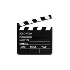 Hollywood Director's Clapper Board Movie Oscar Themed Wooden Party Decor Prop
