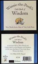 WINNIE-THE-POOH'S LITTLE BOOK OF WISDOM by A A Milne WISE WORDS FROM A BEAR @New