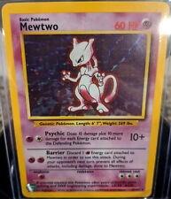 New listing Vintage Mewtwo Base Set Holo 10/102, Unlimited, 1999 Pokemon Wotc, Nm
