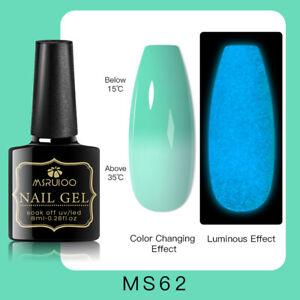 MSRUIOO Luminous Color-Changing UV Gel Nail Polish Soak Off Salon Manicure MS62