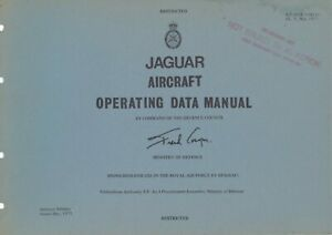 JAGUAR AIRCRAFT OPERATING DATA MANUAL: 11 SECTIONS OVER 278 PAGES/ DVD