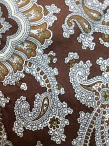 BILL BLASS BROWN WHITE PAISLEY FLORAL ART SILK NECKTIE TIE MAU2021B #G07