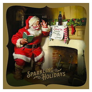 🎄2018 Sparkling Holidays(Coca-Cola Santa`s)USPS Forever Souvenir Sheet PostCard