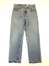 Levis 555 Womens Jeans Size 11 Jr Guys Fit Low Rise Light Wash Faded Frayed