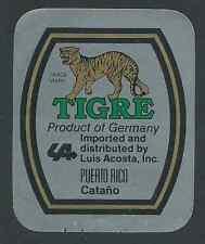 Tigre premium Beer, Dressler cervecería, bremen cerveza etiqueta del frasco (hb-077)