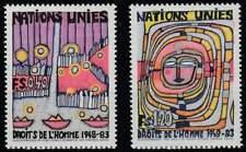 Nations Unies - Geneve postfris 1983 MNH 117-118 - Mensenrechten