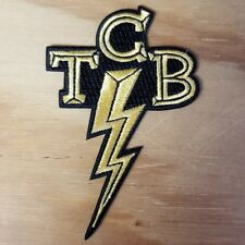 TCB embroidered Patch - ELVIS PRESLEY - Iron On - FREE SHIPPING!