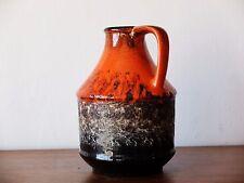 Dumler & Breiden Vase 322 17 Fat Lava westdeutsche Keramik Reliefdeko