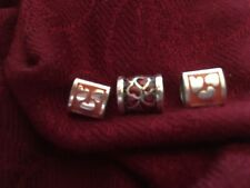 Brighton 2 Pink & 1 Red Heart Charm Bead Spacers