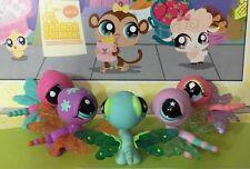 Littlest Pet Shop Bulk Mixed x 5 Pink Green Purple Dragonfly