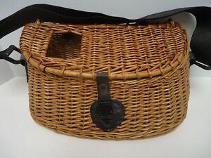 Vintage Wicker Woven Fly Fishing Creel Basket