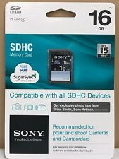 New Sony 16GB SDHC Memory Card