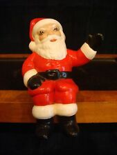 Vintage Ceramic Santa Claus Sitting - Hand Painted