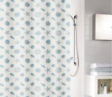 Cmi Millie azul blanco cortina de ducha 180x200cm. Peva - sin PVC